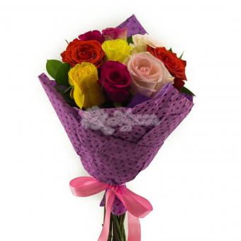 Букет из 9 Эквадорских роз с упаковкой