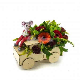 Машина цветов