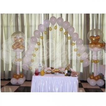Оформление шарами на свадьбу «Комплект № 2»